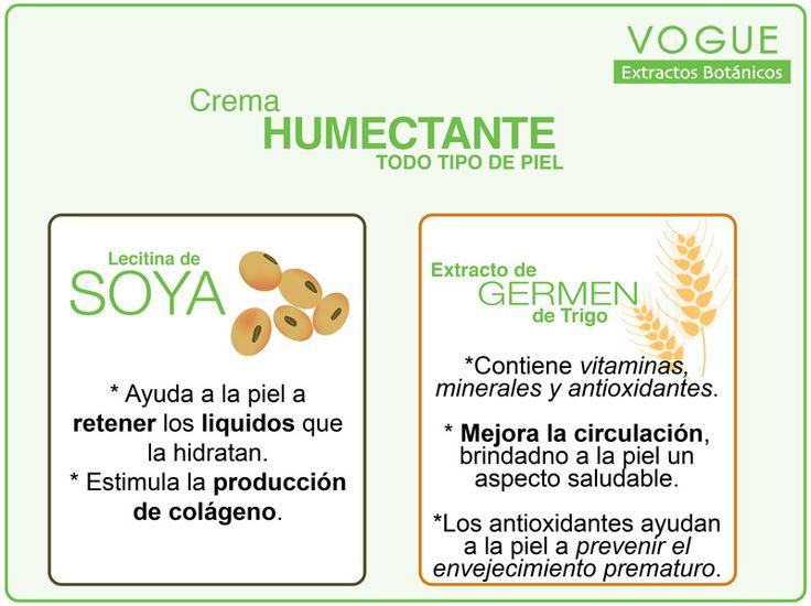 Beneficios de los extractos de Soya y Germen de Trigo en la Piel. Crema Humectante VOGUE Extractos Botánicos