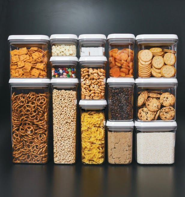 transparent storage containers for small kitchen organization