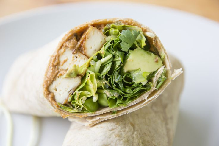 "Crispy Sesame Tofu Wrap with Sun-Dried Tomato Cashew ""Cheese"""