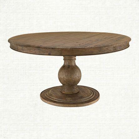 Lara 60 Round Pedestal Dining Table In Natural Available In 54 Too Kitchen Lantern Lane