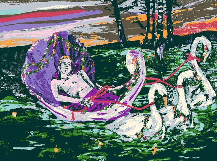 Tapestry by Hernan Bas
