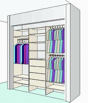 Wardrobe Inserts Diy Installation Flat Pack Cabinetry