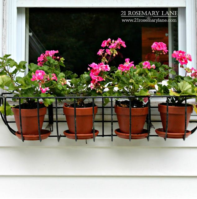 21 Rosemary Lane Using Clay Pots In Wire Planters As An Inexpensive Alternative To Coco Fiber Liners Clay Pots Container Gardening Pot