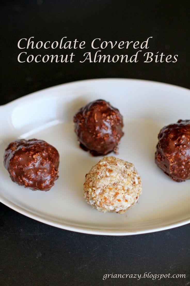 Chocolate Covered Coconut Almond Bites Coconut Almond, Joy Bites ...
