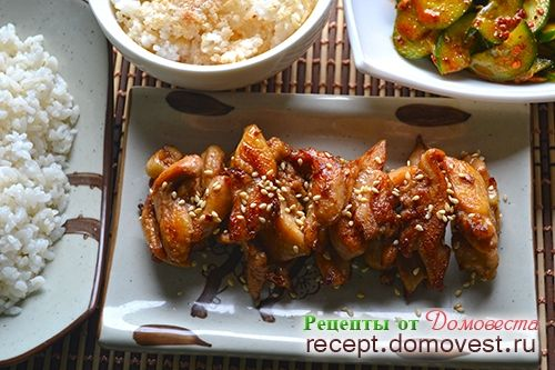 Простой рецепт корейского жаркого из курицы - дак пулькоги