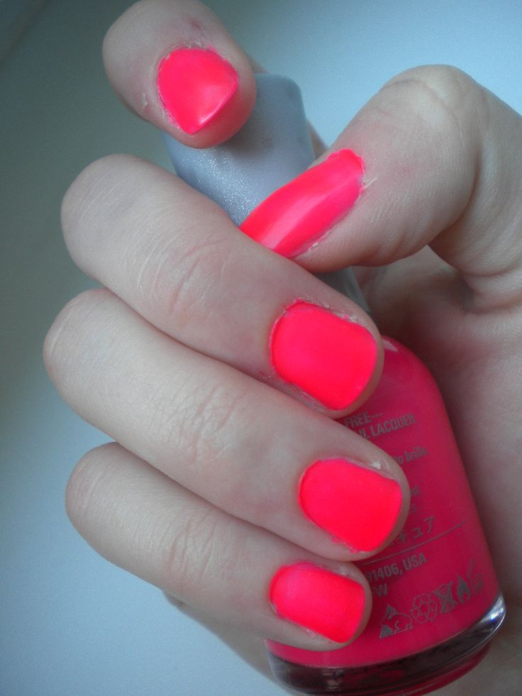 Best 25 Neon Pink Nail Polish Ideas On Pinterest Summer