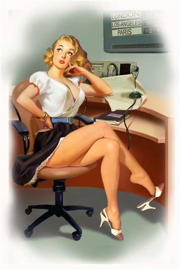 Vintage Pin Up Girl Illustration | Pin-Up Girls | Sugary.Sweet