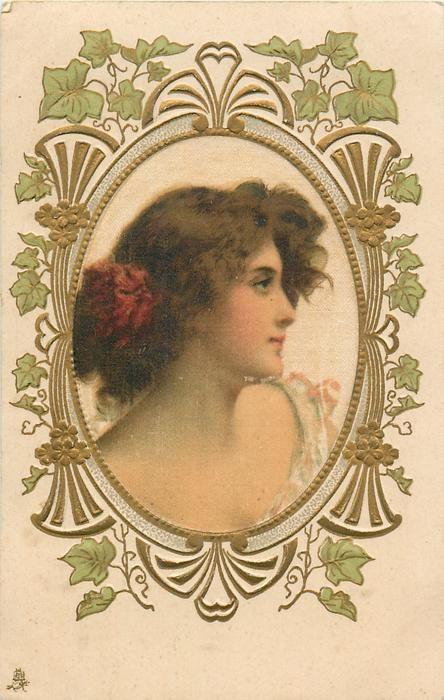 """""""Irene"""" ~ Vintage Art Nouveau postcard"""