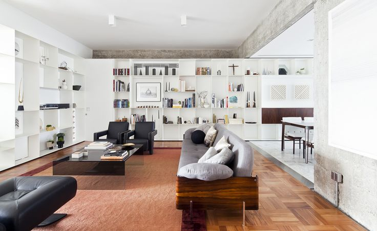 Renovated unit at Sao Paulo's iconic Lausanne apartment block | by AR Architects