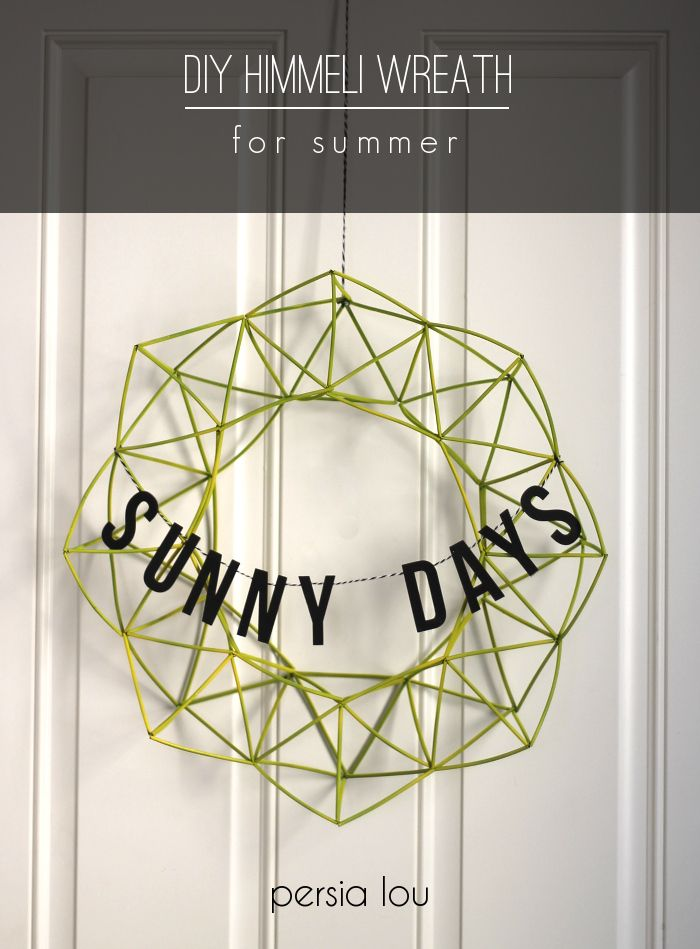 Sunny Days Himmeli Wreath and Summer Celebration by Persia Lou