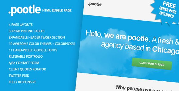 Pootle - Premium Responsive Single Page Template