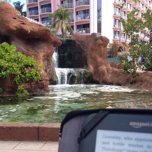 Reading a good book - Atlantis Bahamas 2/2012