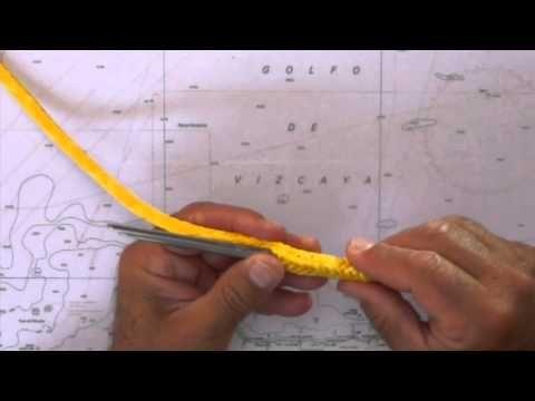 Nudos marineros para el PER 4; Dyneema, grillete textil | Escuela Náutica de Navarra - YouTube