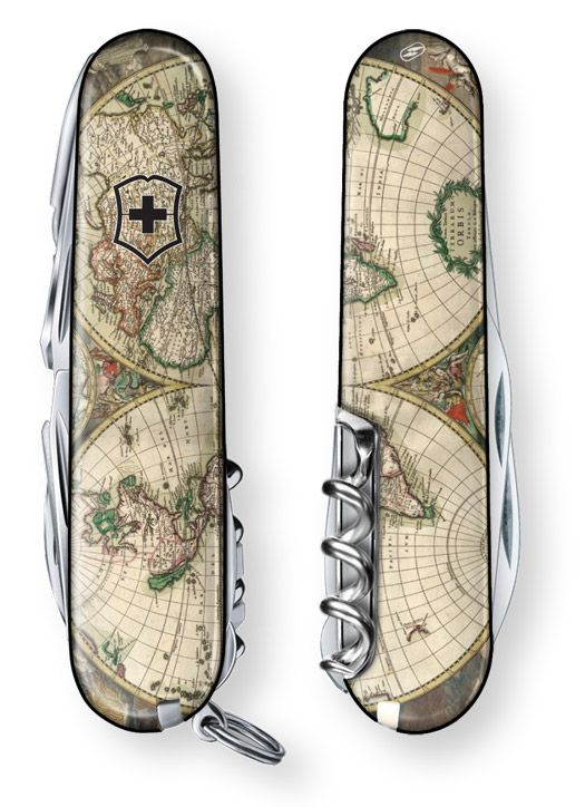 World Map 1689 Swiss Army Knife