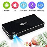 #5: Video Rechargeable Multimedia Home Pico ProjectorSupport 1080P Full HD  WIFI Wireless Connectivity Portable Mini Projector Max Throw 120-inch Screen OSRAM LED Lamps Work for 30000 Hour - phones (http://amzn.to/2cumGsb) printers (http://amzn.to/2cunwoO) shredders (http://amzn.to/2bXf0y6) projectors (http://amzn.to/2ch8mil) scanners (http://amzn.to/2bMXiIv) laminators (http://amzn.to/2ch9P8C)
