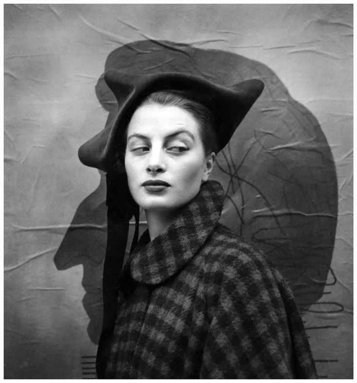 by Richard Avedon Capucine in hat by Dior Paris, July 1949 Repinned by www.lecastingparisien.com
