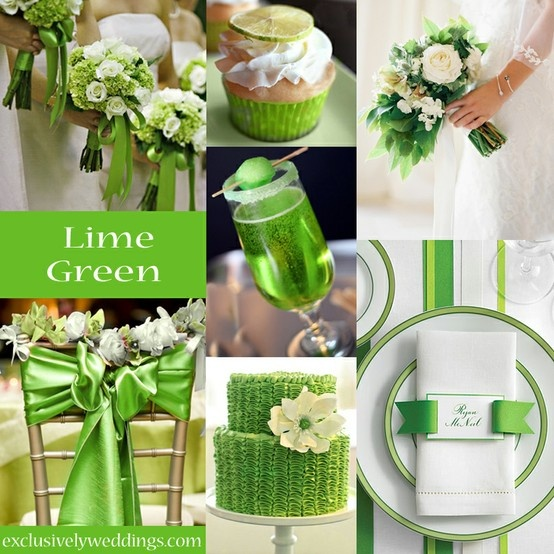 Lime Green Wedding Color - #exclusivelyweddings | #weddingcolors