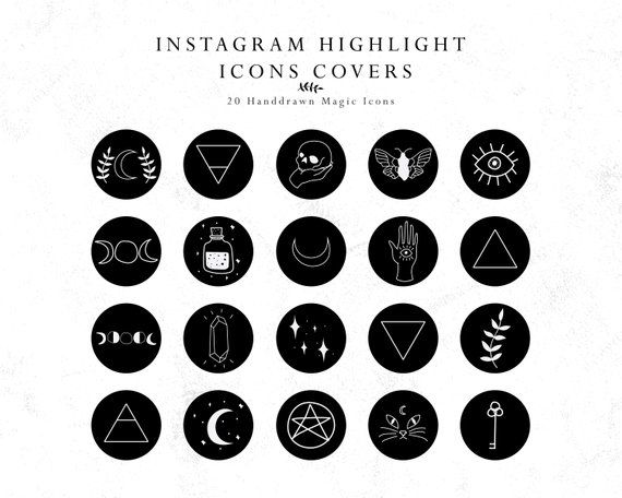 Instagram Story Highlights Cover Icons Magic Handdrawn Icons Etsy In 2020 Instagram Story Instagram Highlight Icons Story Highlights