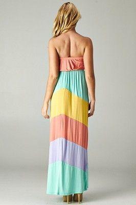 Beautiful  Pastel  Maxi Dress