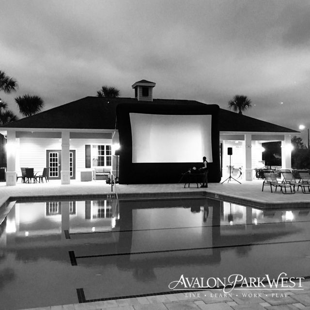 Movie Under the Stars at Avalon Park West in Wesley Chapel, FL
