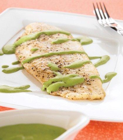 """""""Filetes de pescado con crema verde""""... ¡Encuentra aquí la receta!"""