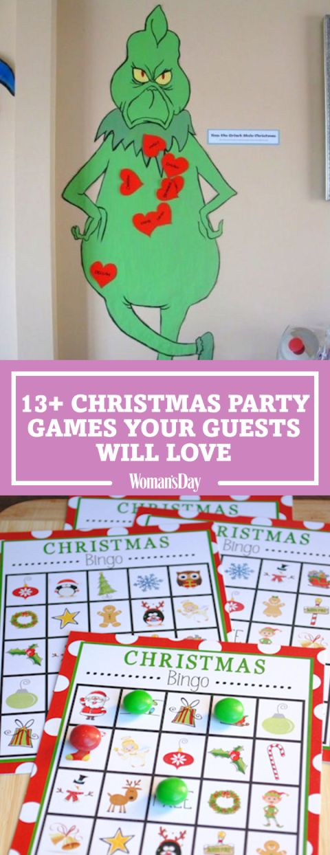 Save these great Christmas party games for later! Don't forget to follow Woman's Day on Pinterest for more great Christmas ideas.