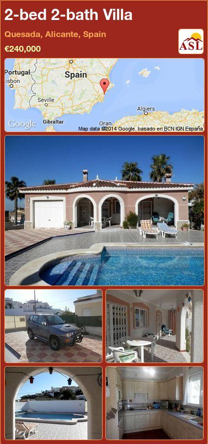 2-bed 2-bath Villa in Quesada, Alicante, Spain ►€240,000 #PropertyForSaleInSpain