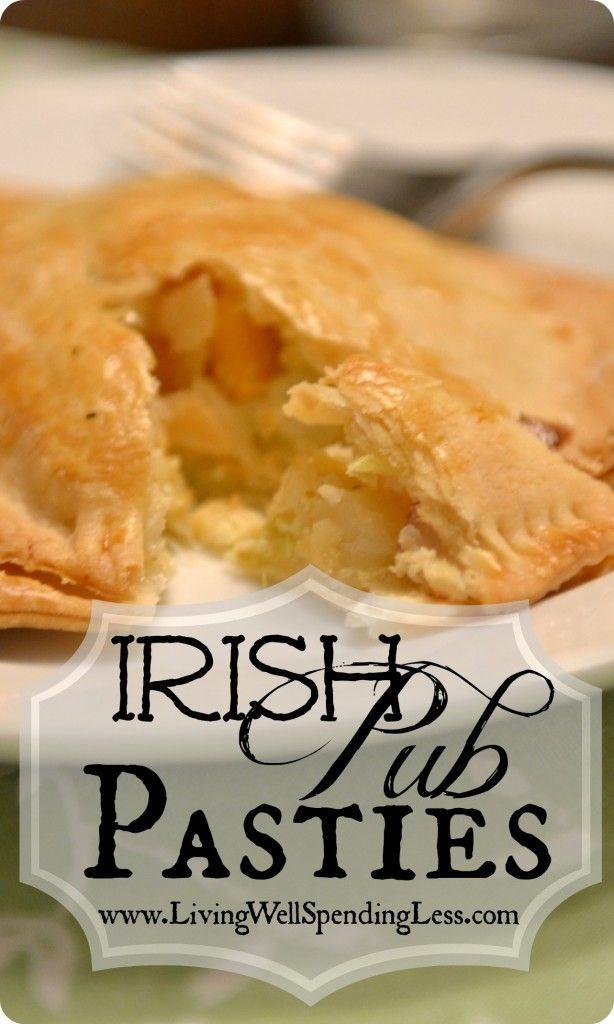 Irish Pub Pasties {Cabbage Pies} Great St. Patricks Day Recipe! Can make it meaty or vegetarian (or some of each!)#Irish #Recipe #Vegetarian