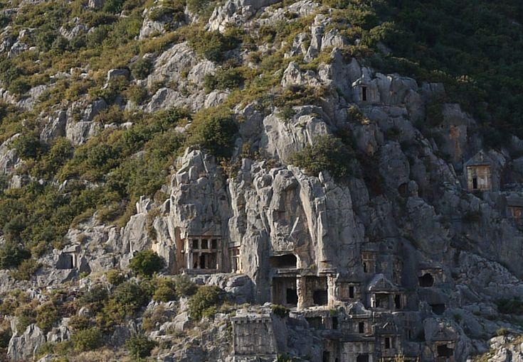 This carved out Cliffside looks soo beautiful! It is located along Turkey's coastline. #Turkey