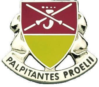 746th Maintenance Battalion Unit Crest (Palpitantes Proelii)