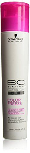 Schwarzkopf BC Bonacure Color Freeze SulfateFree Shampoo 85 oz  250 ml by Schwarzkopf Professional -- Check out this great product.Note:It is affiliate link to Amazon.
