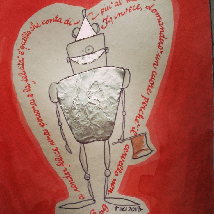 #TinMan #TheWizardofOz #Baum #PIKI #illustration #ink