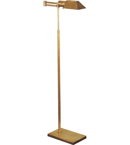 visual comfort 81134hab studio classic 43 inch 40 watt hand rubbed antique brass swing arm floor. Black Bedroom Furniture Sets. Home Design Ideas
