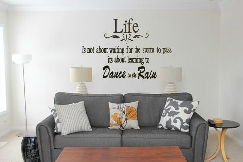 Dance in the RainRemovable Wall DecalAdd a touch of life to your wallsThis decal comes with the transfer sheet applied for a perfect finish on your wallThis is approximately 75cm x 60...