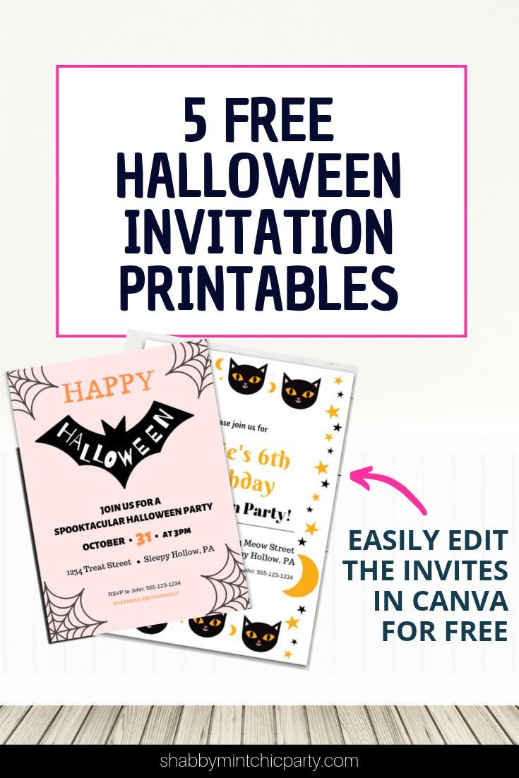 Free Halloween Party Invitation Canva Templates Shabby Mint Chic Party Free Halloween Invitations Free Halloween Invitation Templates Halloween Party Invitations