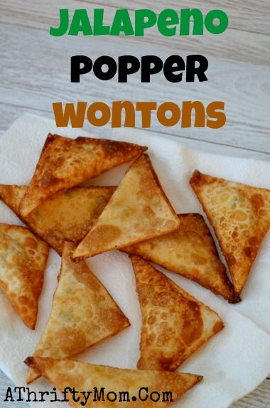 Jalapeno Popper Wontons recipe, Quick and easy perfect finger food for ...