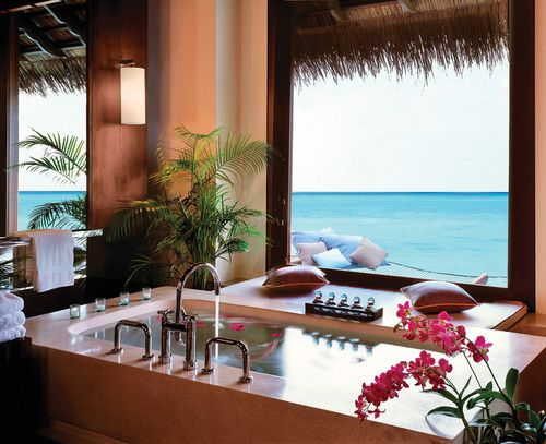 Architecture Winning Reethi Rah Resort Maldives Including Spa Room With Marble Tub In Wooden Interior Concept Beautified Blue Ocean View