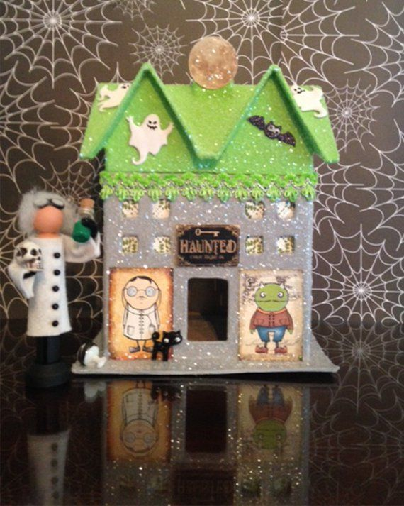 13 best vintage Halloween images on Pinterest Glitter houses - decorate house for halloween