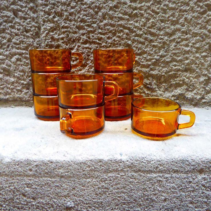 Set de 9 tazas de la casa Elsadur, años 60 |