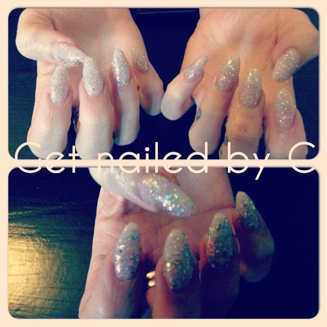 Cnd gel nails - OPI glitter on top☺