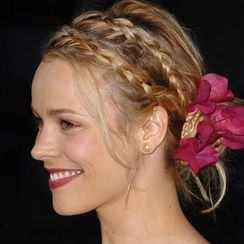 double braid and flower, beautiful!