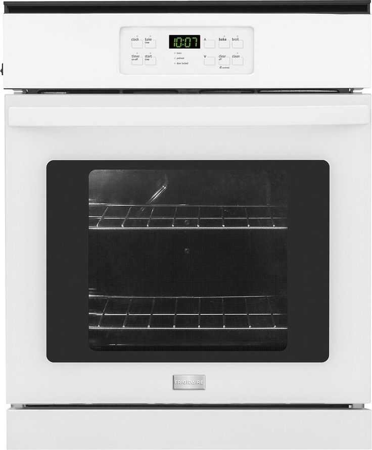 "Frigidaire - 24"" Built-In Single Electric Wall Oven - White"