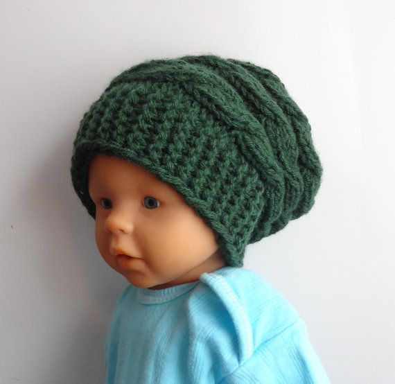 Newborn Hipster Hat  Baby Fall Winter sacking Hat  by IfonBabyLand