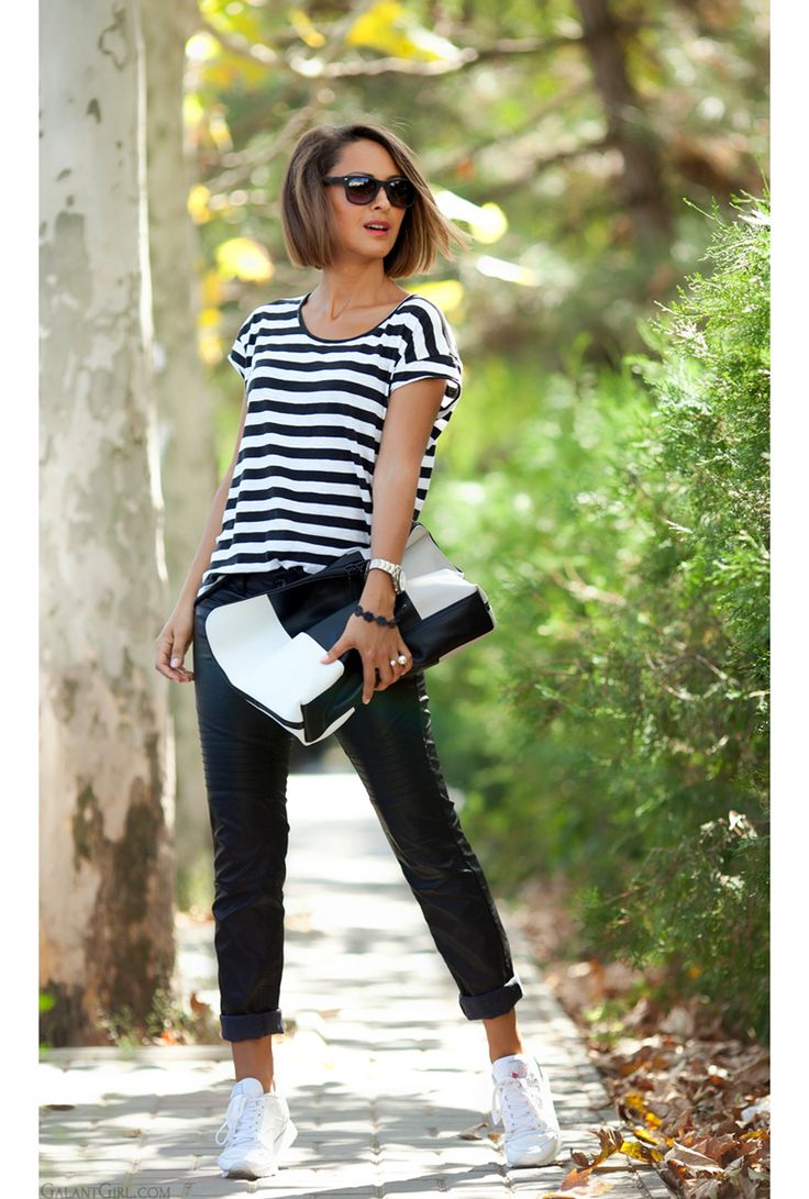 leather trousers outfit and 3.1 Phillip Lim clutch by GalantGirl.com