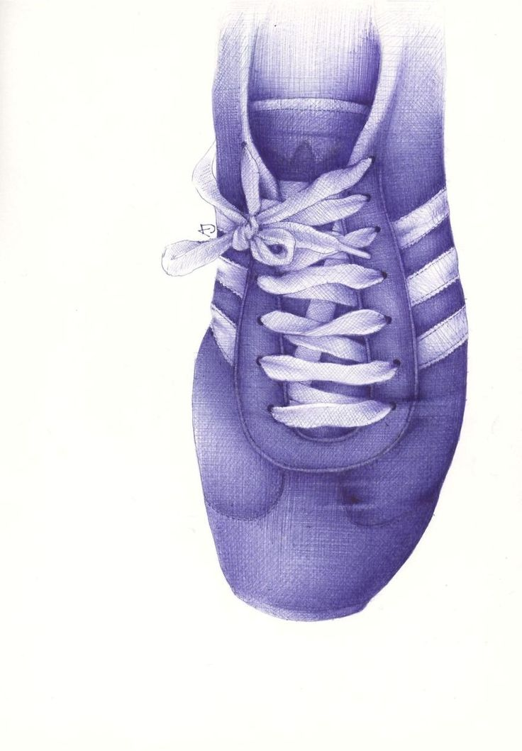 Andrea Joseph I Draw My Friends' Shoes With Ballpoint Pens | Bored Panda