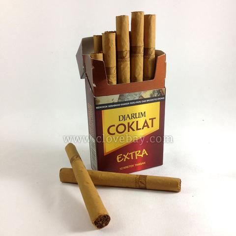 Djarum coklat extra unfiltered kretek