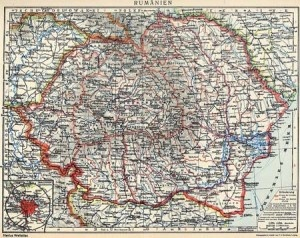 Romania Map Map: Greater Romania in 1926.