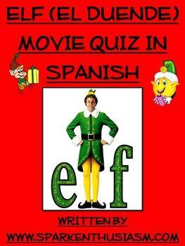 True/false quiz in Spanish for the popular Christmas movie, Elf!  Happy Holidays!