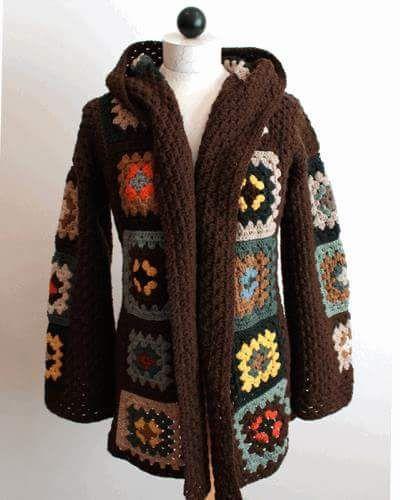 Brasil Tricô & Crochê - Handmade: Casaco em squae em lã