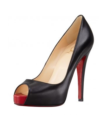 Christian Louboutin Very Prive Leather Platform Red Sole Pump - StoreTip